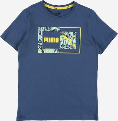 PUMA Tričko - modrá džínovina: Pohled zepředu