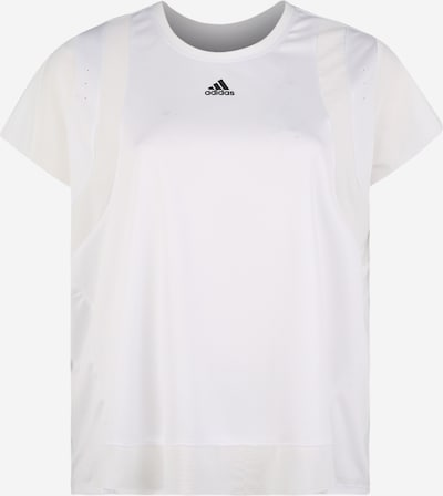 ADIDAS PERFORMANCE Training T-Shirt 'Heat.RDY' in schwarz / weiß: Frontalansicht