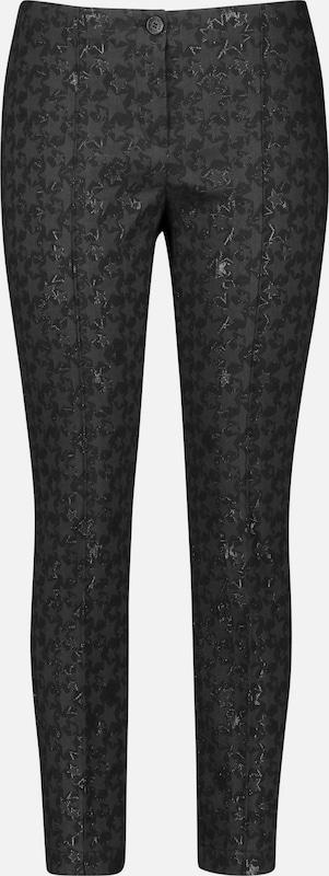 GERRY WEBER Hose in mischfarben   schwarz  Freizeit, schlank, schlank