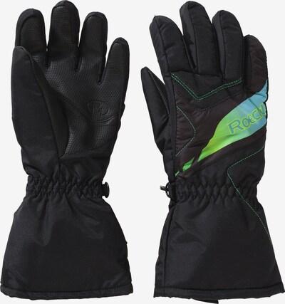 Roeckl SPORTS Fingerhandschuh 'ALBA' in blau / grün / schwarz, Produktansicht