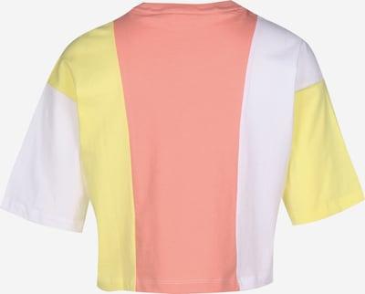 FILA T-Shirt in gelb / lachs / weiß: Frontalansicht