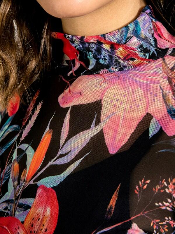 PIECES Kleid mit Blumen-Print
