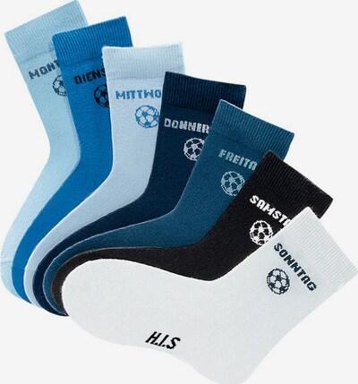 HIS JEANS Socken in blau / weiß, Produktansicht