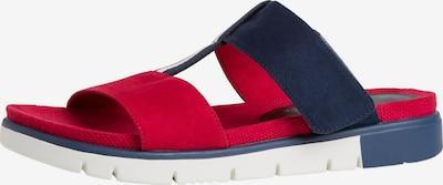 JANA Pantolette in blau / rot, Produktansicht