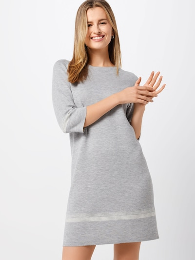 s.Oliver Kleid in grau / weiß, Modelansicht