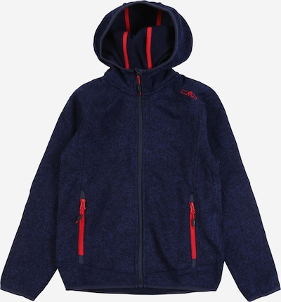 CMP Strickfleece in navy / rot, Produktansicht
