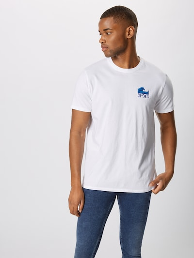 EDWIN Shirt 'The Wave' in blau / weiß: Frontalansicht