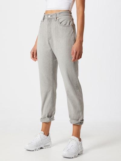 LEVI'S Jeans '501® Crop' in grey denim, Modelansicht