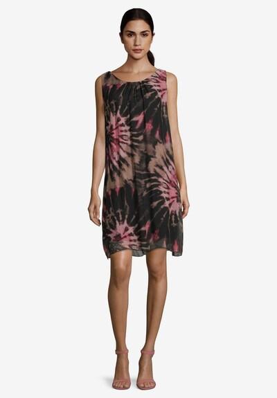 Betty Barclay Chiffonkleid aus Seiden-Viskose-Chiffon in rosé / schwarz, Modelansicht