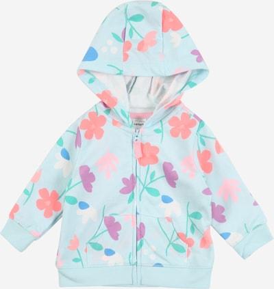 Carter's Sweatjacke 'Floral' in türkis, Produktansicht