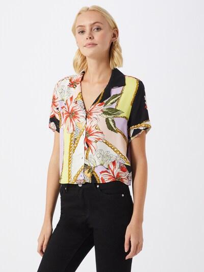 Mavi Hemd in mischfarben / schwarz / weiß, Modelansicht