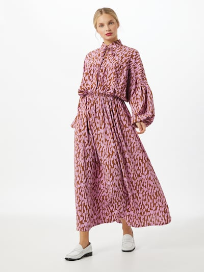 SELECTED FEMME Robe 'Mikai' en marron / rose, Vue avec modèle