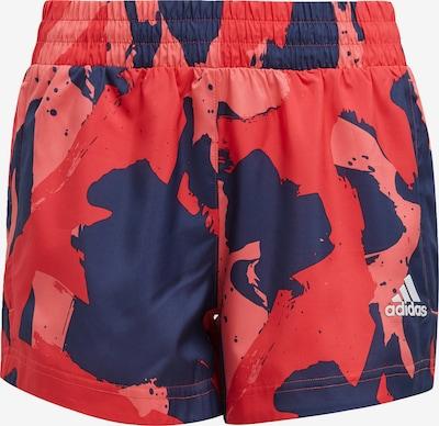 Pantaloni sport ADIDAS PERFORMANCE pe navy / roz / roșu, Vizualizare produs