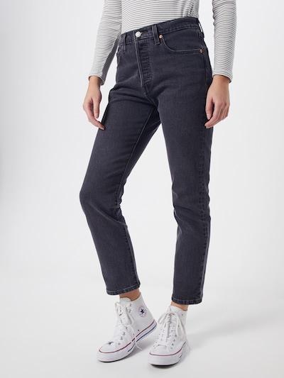 LEVI'S Jeans '501 CROP' in de kleur Grey denim, Modelweergave