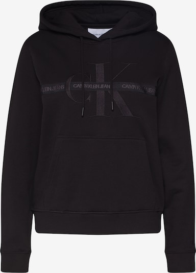 Calvin Klein Jeans Dressipluus 'TAPING THROUGH MONOGRAM HOODIE' must, Tootevaade