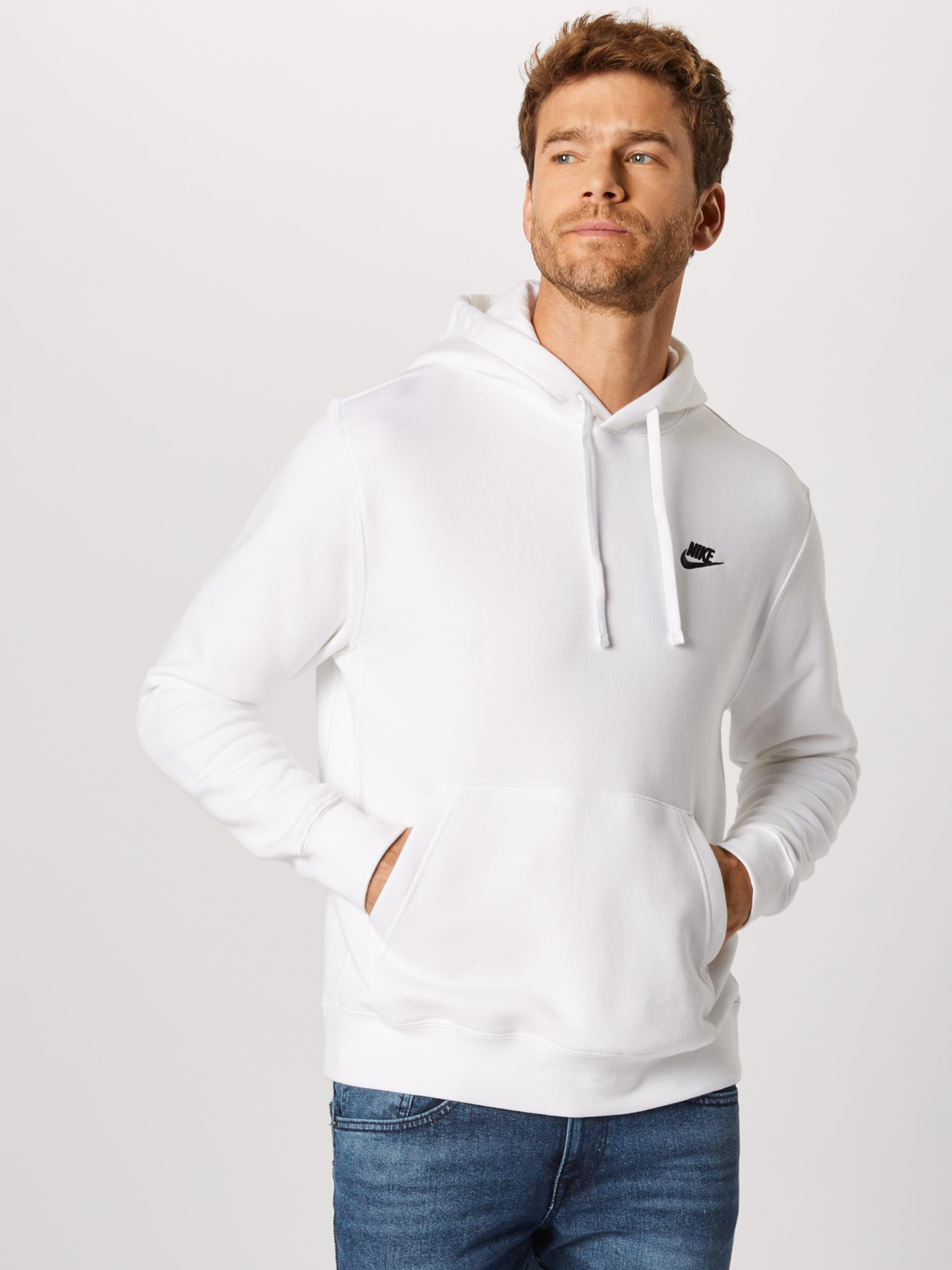Sportswear Weiß Nike 'club' In Sweatshirt nwO0yvNm8