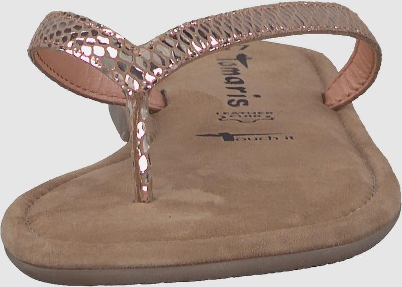 TAMARIS | Zehensandale  metallic metallic  snake 371c55
