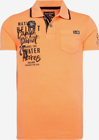 CAMP DAVID Poloshirt in orange / schwarz, Produktansicht