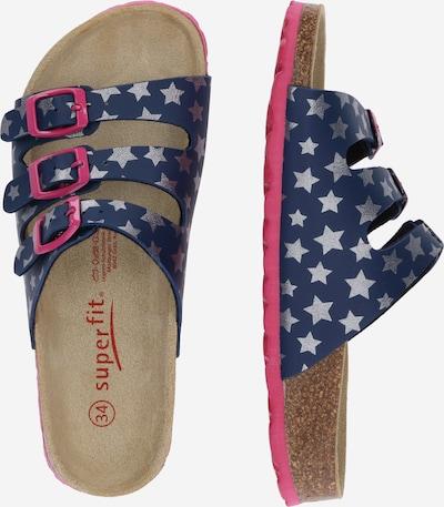 SUPERFIT Sandale en dunkelblau / pink / silber: Vue de profil