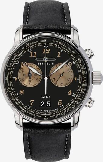 Zeppelin Uhr in gold / schwarz / silber, Produktansicht