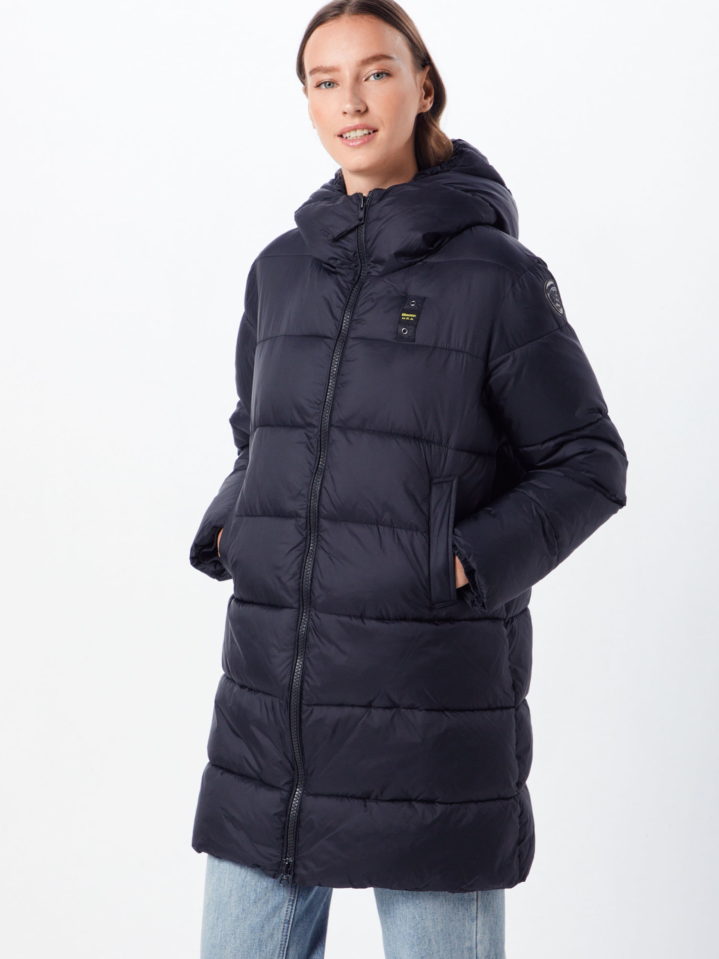 Blauer usa 'impermeabile' Mantel In Schwarz TKJclF31