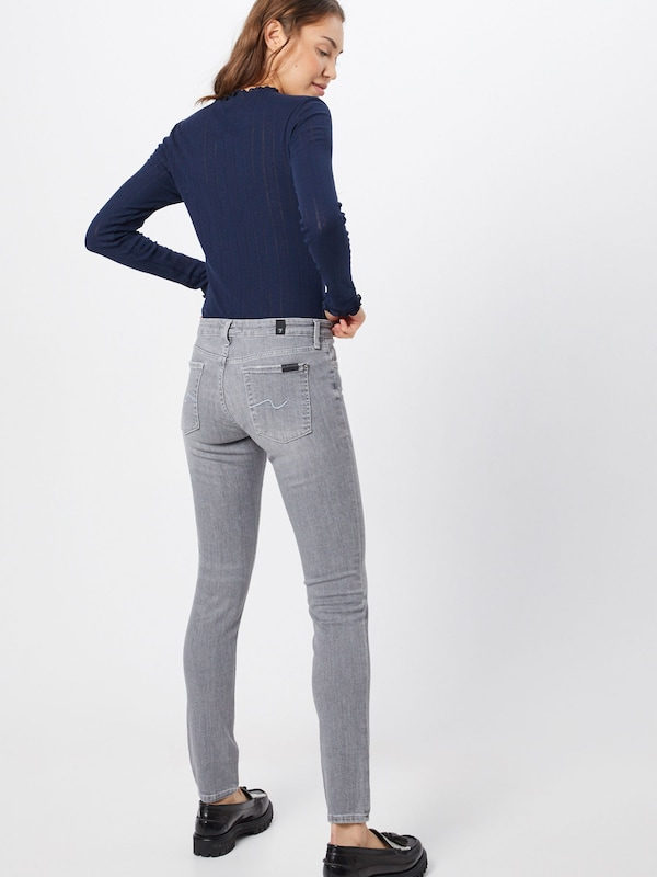 7 for all mankind Jeans 'PYPER SLIM ILLUSION NEW DAWN' in grau: Rückansicht