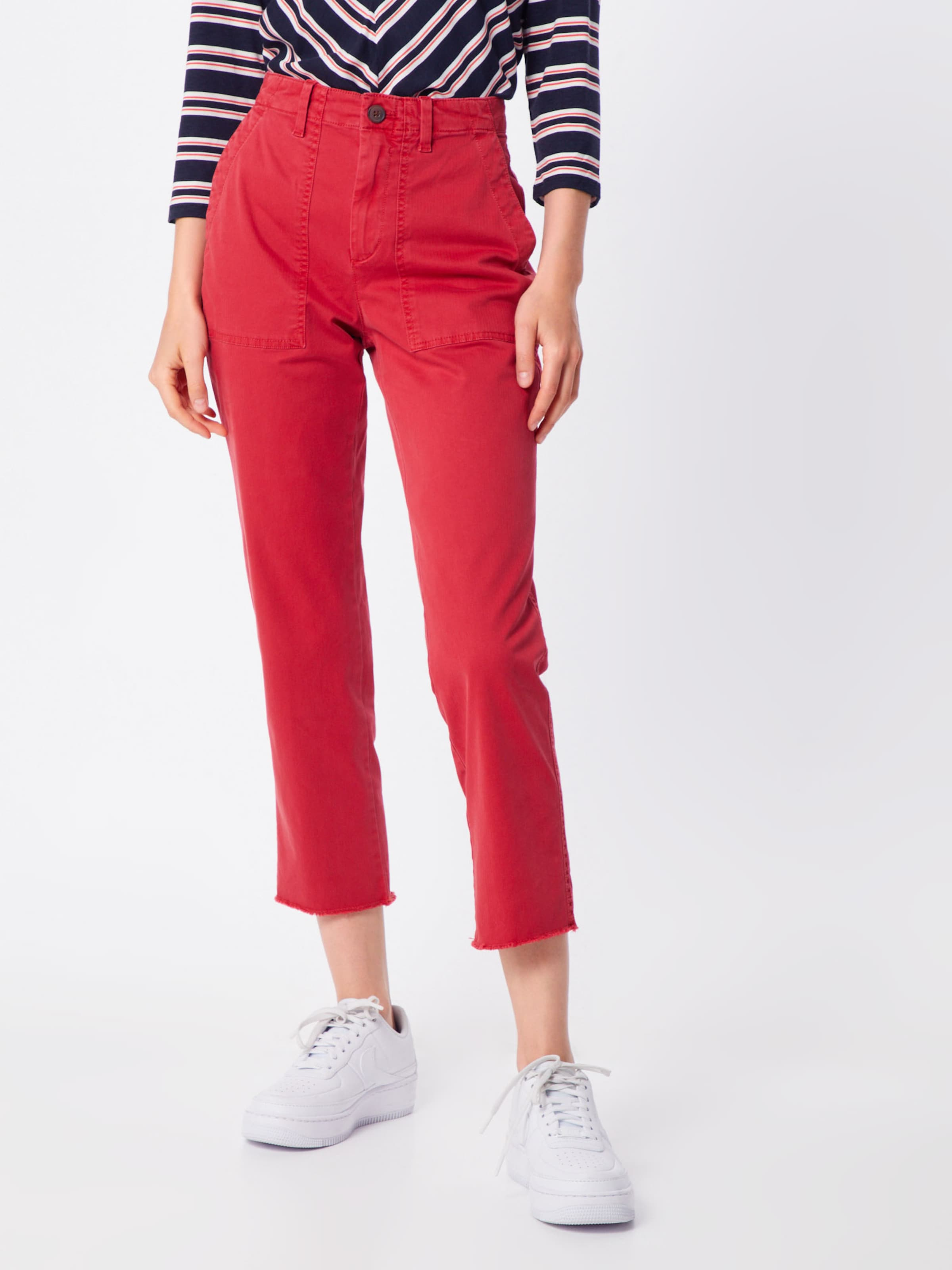 En Pantalon Fray' 'girlfriend Chino Utility Rouge Gap AcLq5j34R