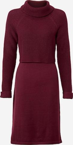 heine Gebreide jurk in Rood