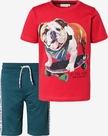 myToys-COLLECTION Set T-Shirt + Sweatshorts in Rot