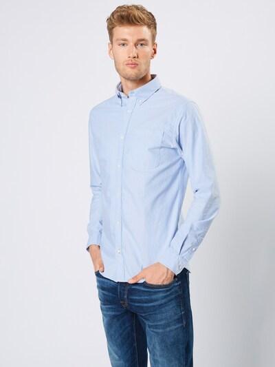 JACK & JONES Koszula 'Oxford' w kolorze podpalany niebieskim, Podgląd na modelu(-ce)