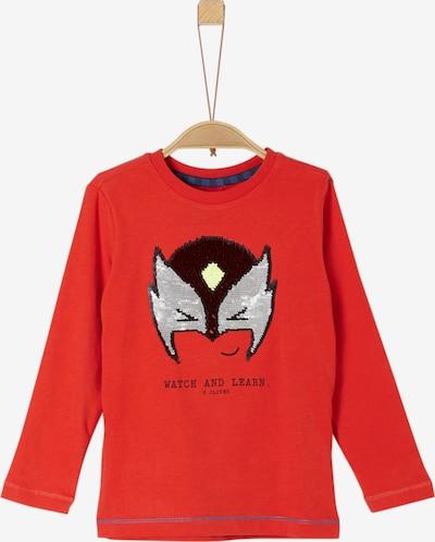 s.Oliver Shirt in hellgrau / dunkelorange, Produktansicht