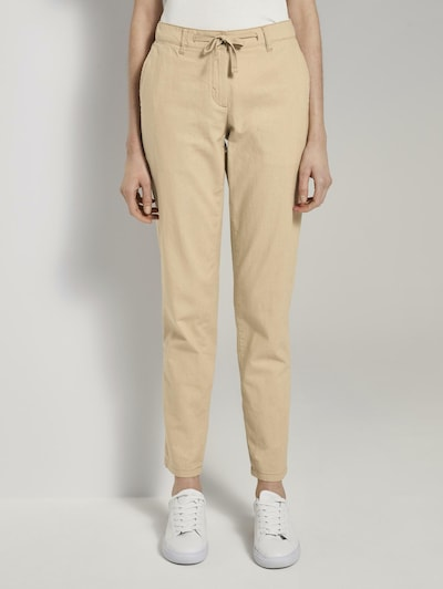 TOM TAILOR Chinohose in beige, Modelansicht