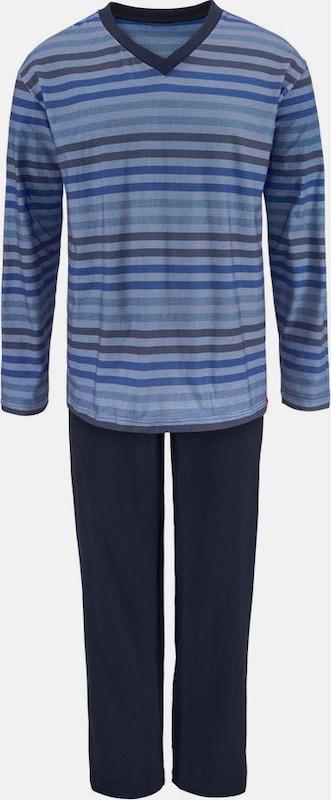 s.Oliver RED LABEL Pyjama lang mit garngefärbten Streifen