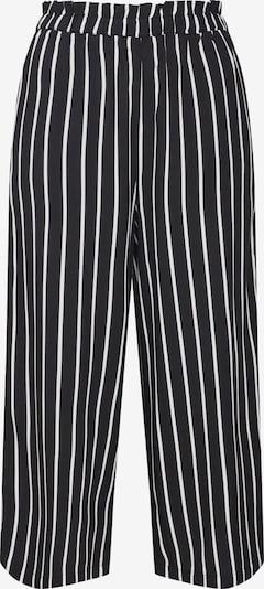 Review Pantalon 'AOP' en noir / blanc, Vue avec produit