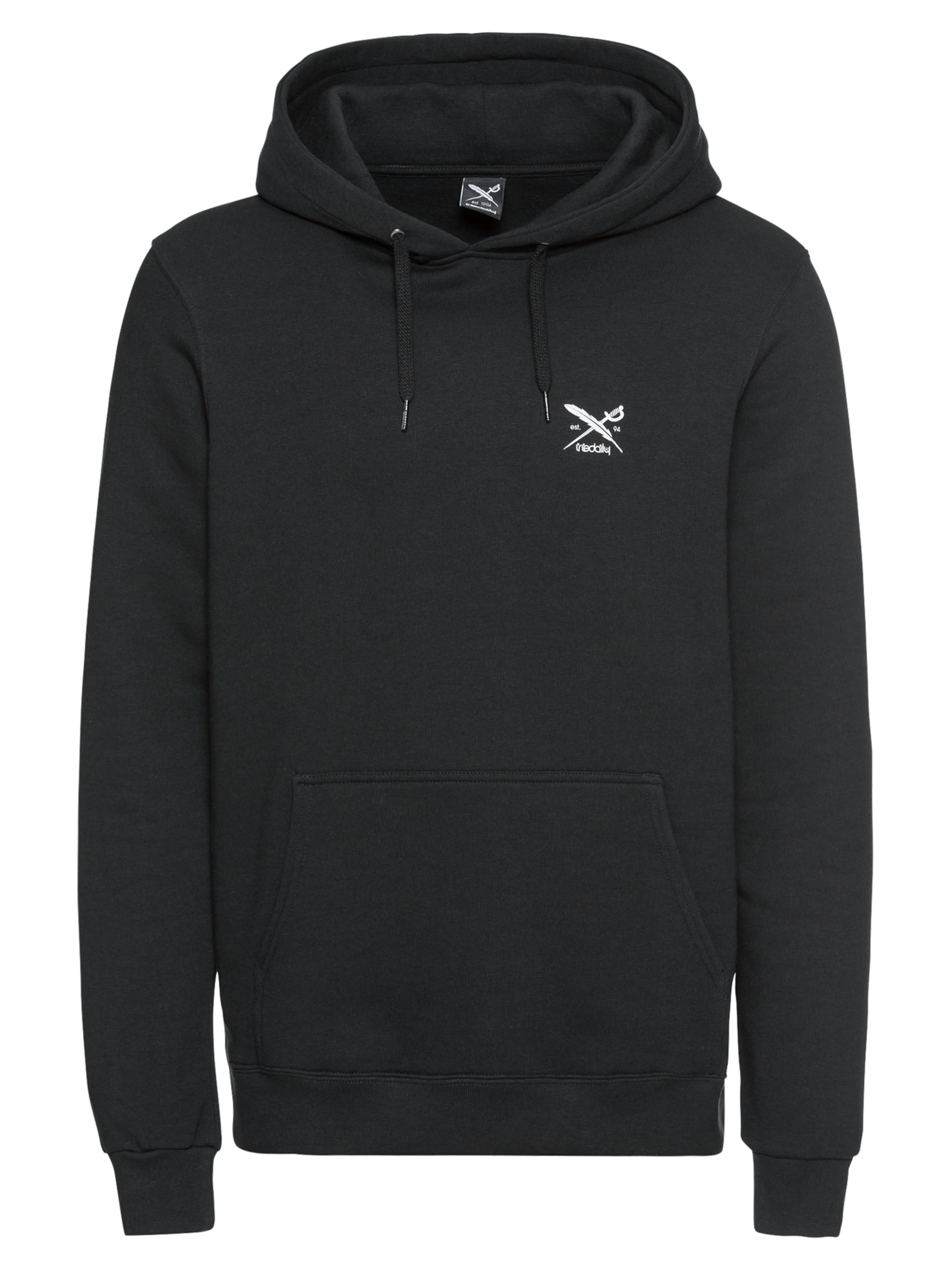 Sweatshirt Iriedaily Momentum 'new In Hoody' SchwarzWeiß Rjq4LS3Ac5
