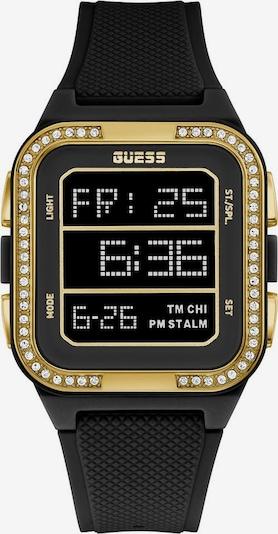 GUESS Uhr in gold / schwarz, Produktansicht