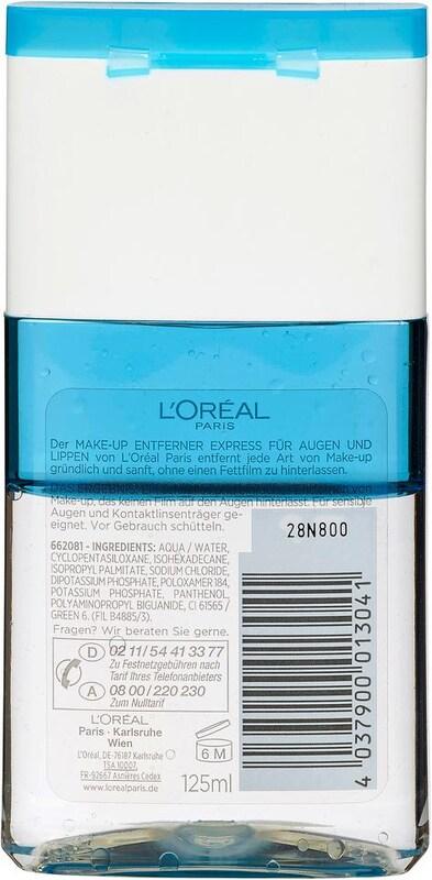 L'Oréal Paris 'Augen-Make-Up-Entferner Waterproof', Augen-Make-up-Entferner