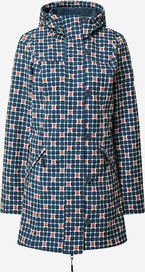 Blutsgeschwister Mantel in blau / orange / weiß, Produktansicht