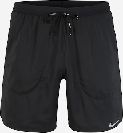 NIKE Sporta bikses 'Flex Stride' gaiši pelēks / melns, Preces skats