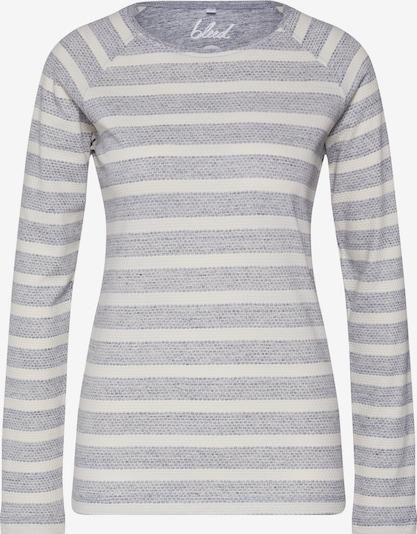 bleed clothing Sweatshirt 'Combstripe Longsleeve Ladies ' in de kleur Grijs / Wit, Productweergave