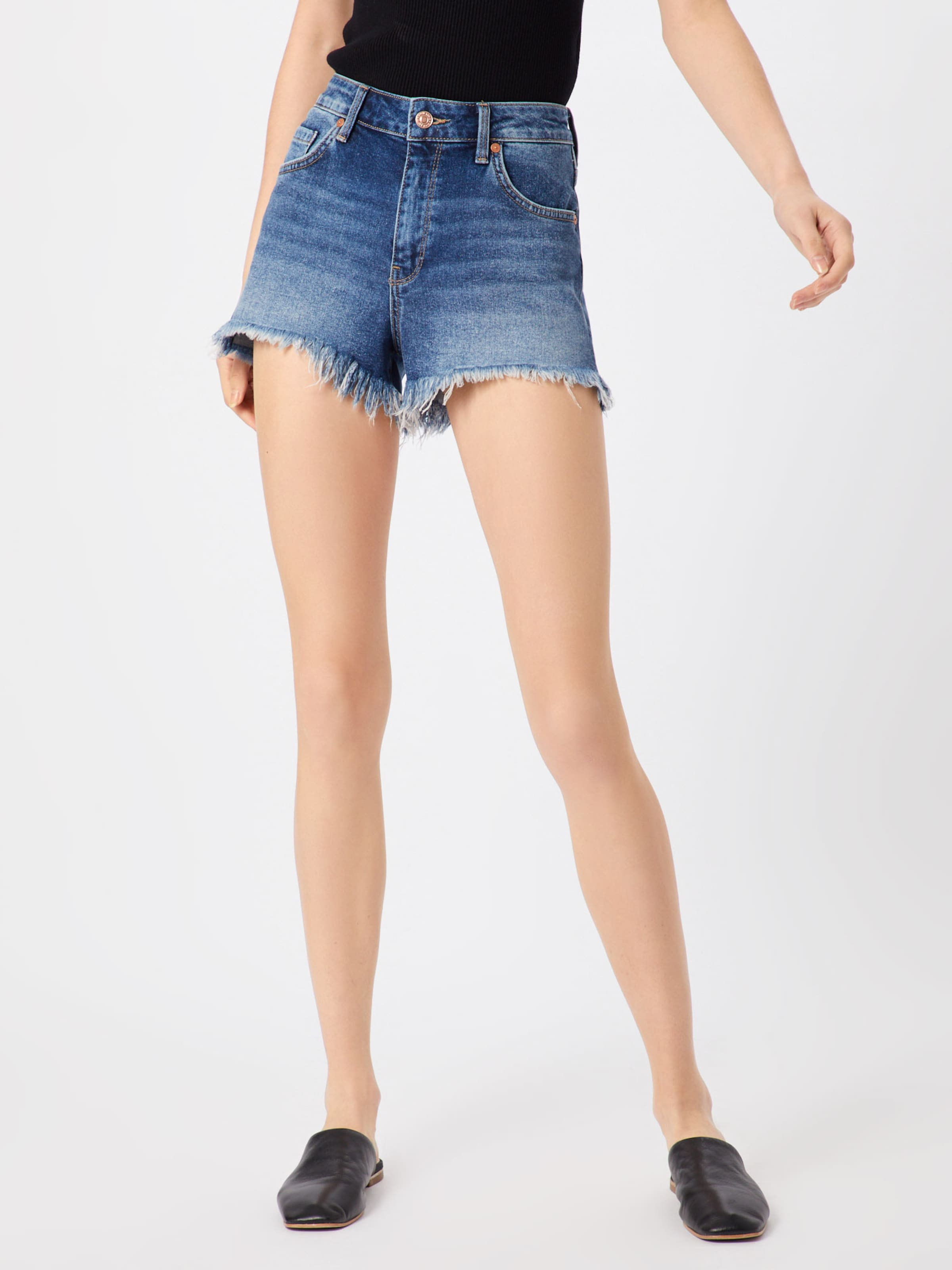 'rosie' Shorts In Blue Denim Mavi bgyvf76Y