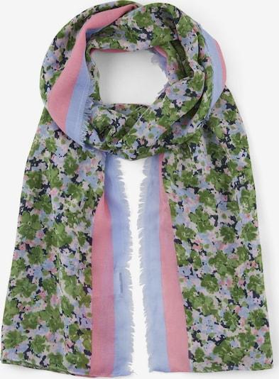 TOM TAILOR 2 Schal mit floralem Muster in grün / flieder / rosa, Produktansicht