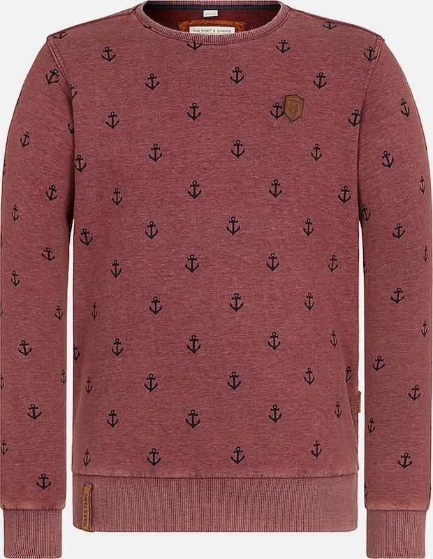 Naketano Sweatshirt 'Rise Of An Enemy' in rot   schwarz  Mode neue Kleidung