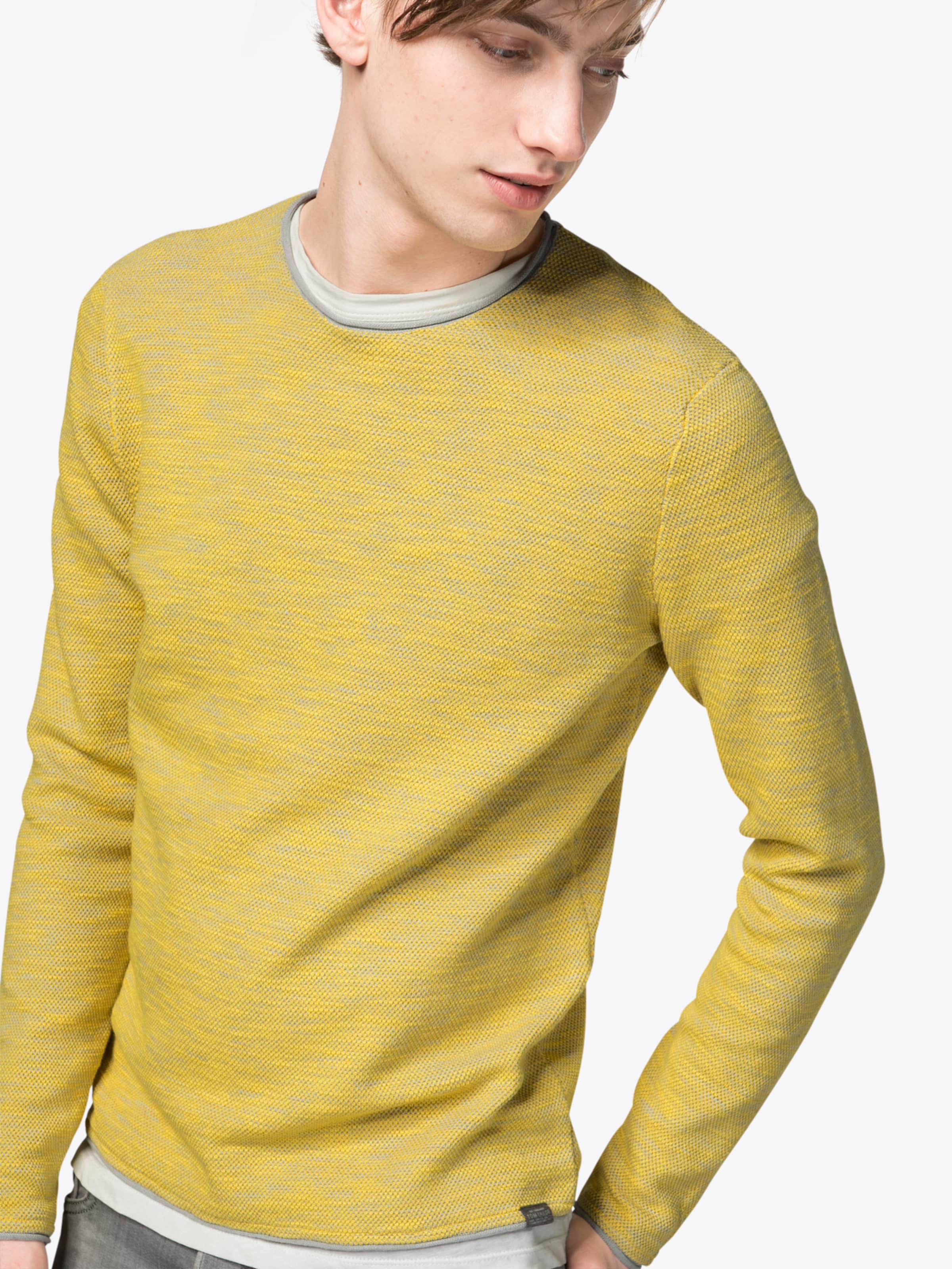 TOM TAILOR Pullover 'structured crew neck sweater' Outlet Günstig Online Manchester Günstig Online b4wk3h
