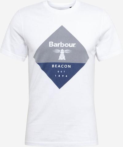 Marškinėliai iš Beacon by Barbour , spalva - melsvai pilka / margai pilka / balta, Prekių apžvalga