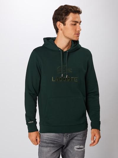 Bluză de molton LACOSTE pe verde închis, Vizualizare produs