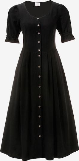 BERND NABER Trachtenkleid mit luftigen Puffärmeln in schwarz: Frontalansicht