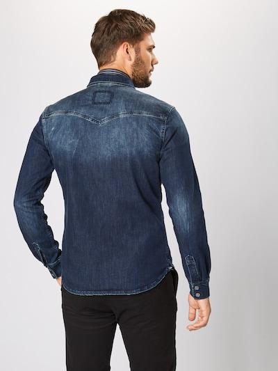 Dalykiniai marškiniai 'Fred 6866' iš tigha , spalva - tamsiai (džinso) mėlyna: Vaizdas iš galinės pusės