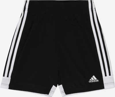 ADIDAS PERFORMANCE Pantalon de sport 'Tastigo 19' en noir / blanc: Vue de face