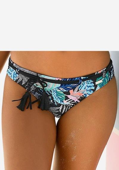 türkiz / fekete VENICE BEACH Bikini nadrágok 'Smash': Elölnézet